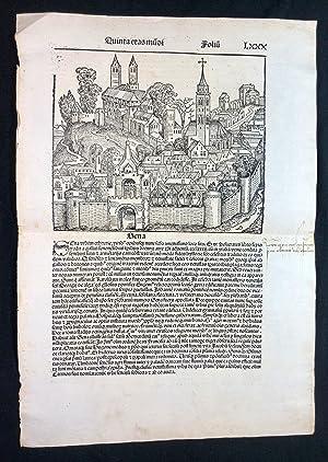 "Leaf LXXX from Liber Chronicarum ""Nuremberg Chronicle"": Schedel, Hartmann:"