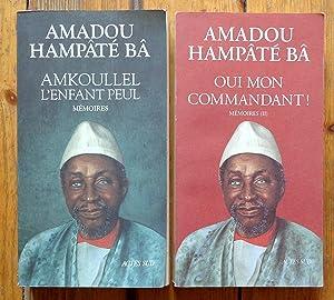 Image du vendeur pour Mémoires. I: Amkoullel, l'enfant Peul - II: Oui mon commandant ! mis en vente par La Bergerie