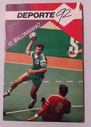 BALONMANO. Editorial Deporte 92.: Jordi Huguet. TDK553