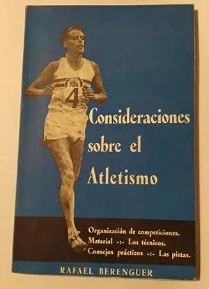 Imagen del vendedor de CONSIDERACIONES SOBRE EL ATLETISMO. a la venta por TraperíaDeKlaus