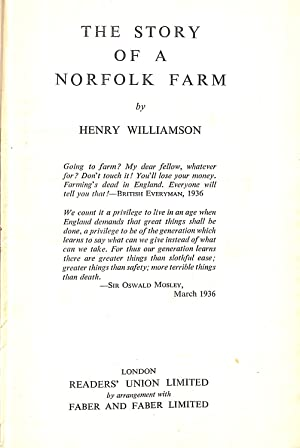 The Story of a Norfolk Farm: Henry Williamson