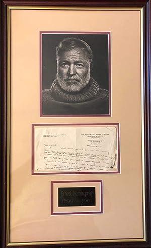 Ernest Hemingway Autograph   signed letters: Hemingway, Ernest