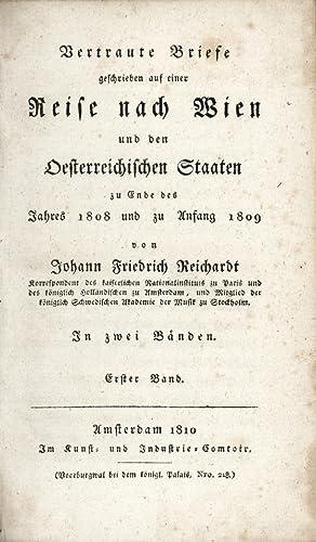 Vertraute Briefe geschrieben auf einer Reise nach: Reichardt, Johann Friedrich