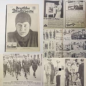 Seller image for Deutsche Illustrierte. 9. Jahrgang Nr. 24 vom 13. Juni 1933 * F l o t t e n b e s u c h des Volkskanzlers A d o l f H i t l e r for sale by Galerie für gegenständliche Kunst