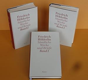 Bild des Verkäufers für Friedrich Hölderlin, Sämtliche Werke und Briefe, Band 1 bis 3, 3 Bände Dünndruck komplett. zum Verkauf von Antiquariat an der Linie 3
