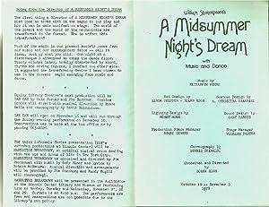 A Midsummer Night s Dream (this is the playbill with cast: John Goodman / Nathan Lane / Dann Florek...