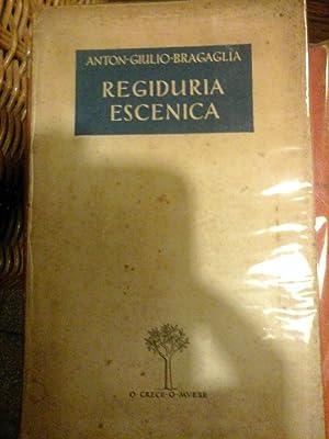 Regiduría escénica: BRAGAGLIA, Anton Giulio.