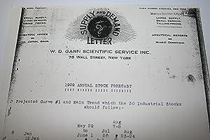 1929 Annual Stock Forecast: Gann, W.D.