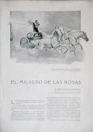 El milagro de las rosas. Novela.: VILLAESPESA, Francisco.