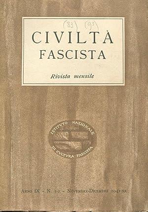 CIVILTA' FASCISTA - 1941-1942 - ANNO IX