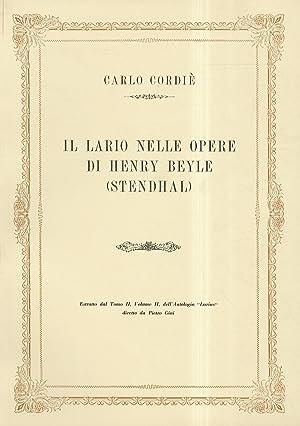 Il Lario nelle opere di Henry Beyle: Cordié Carlo.