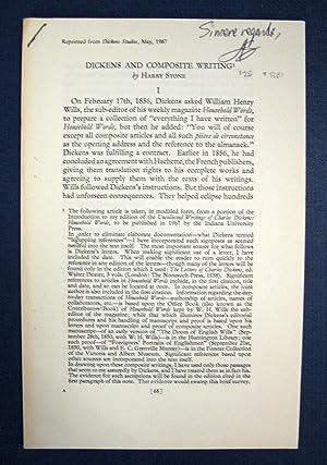 Bild des Verkäufers für DICKENS And COMPOSITE WRITING zum Verkauf von Tavistock Books, ABAA