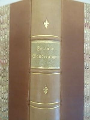 Wanderungen durch die Mark Brandenburg. Bd. 1 (von 4). Berlin, Hertz, 1862. 1 Bl., Titel, XI, 475 S...