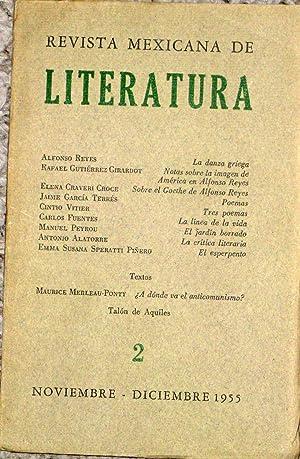 Revista Mexicana De Literatura #2 Noviembre - Diciembre 1955: Reyes, Alfonso, Gutierrez Girardot, ...
