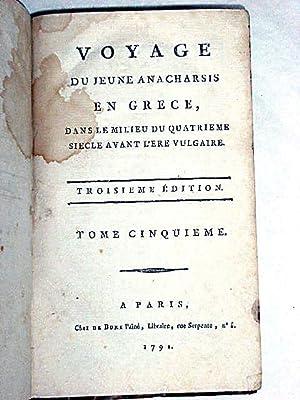 Voyage du Jeune Anacharsis en Grèce, dans: BARTHELEMY (l'abbé).