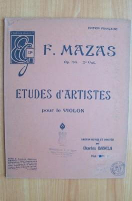 EDITION GALLET n° 13C : F.MAZAS op.36: F. MAZAS