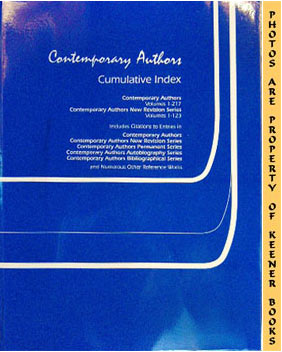 Contemporary Authors: Cumulative Index