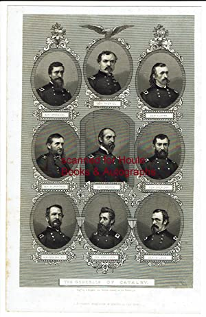 "Engraved Group of Nine Portraits ""Generals of the Cavalry"", engraved by J. Rogers"