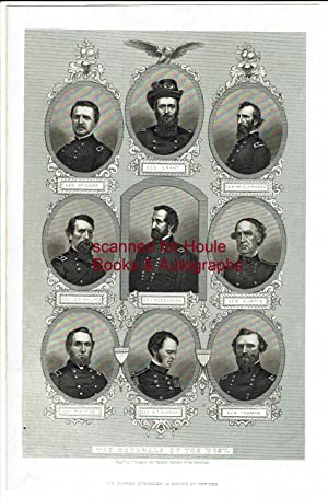 "Engraved Group Portraits of Nine Portraits of ""Generals of the West"", engraved by J. Rogers"