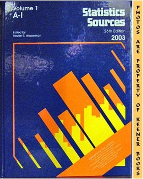 Statistics Sources : 26th Edition - 2003