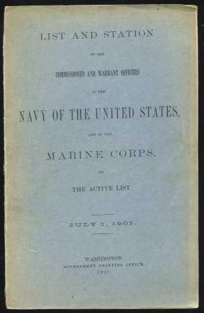 List and Station of the Commissioned and Warrant Officers of the Navy of the United States, and o...