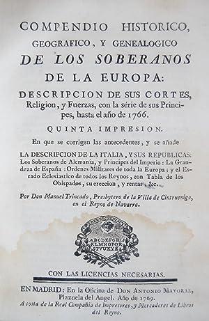 COMPENDIO HISTORICO, GEOGRAFICO, Y GENEALOGICO DE LOS: TRINCADO, Manuel