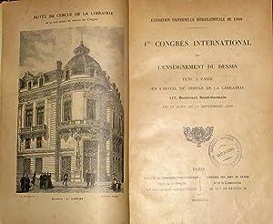 1er Congres International De L'enseignement Du Dessin Tenu a Paris En L'Hotel Du Cercle De ...