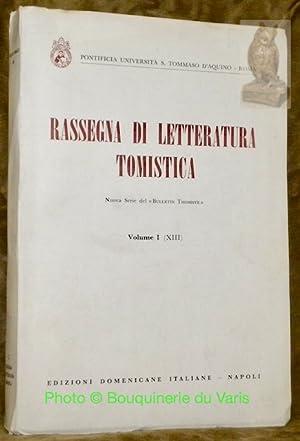 RASSEGNA di Letteratura Tomistica (Thomistic Bulletin - Boletin Tomista - Thomistische ...