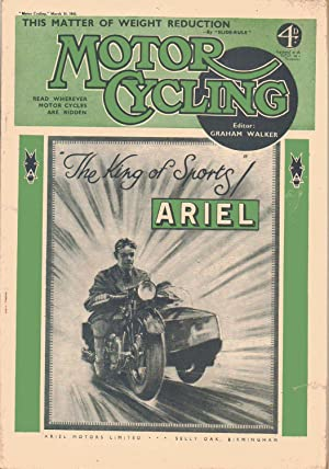MOTOR CYCLING March 18, 1943. Magazine: Edited by Graham
