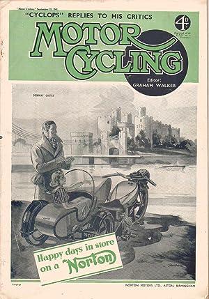 MOTOR CYCLING Magazine. September 25, 1941: Edited by Graham