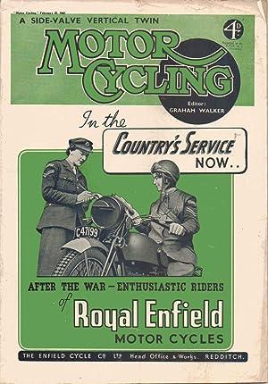 MOTOR CYCLING Magazine. February 25, 1943: Edited by Graham