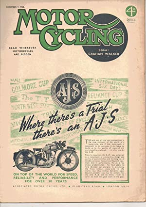 MOTOR CYCLING MAGAZINE. December 9, 1943: Edited by Graham