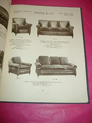 A FEW EXAMPLE OF CHAIRS SOFAS & SETTEES On View in the Showrooms of Maple & Co Ltd Tottenham Cour...
