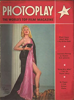 Photoplay the World's Top Film Magazine. January 1954. BRITISH EDITION. Front cover: DIANA DORS
