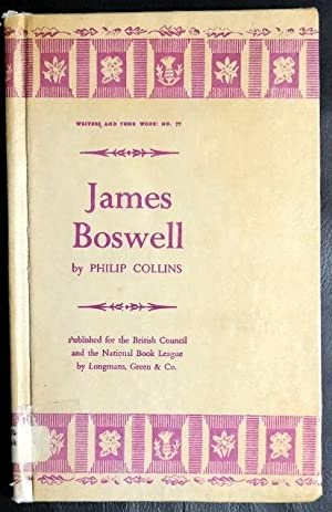 Seller image for JAMES BOSWELL. ('BRITISH BOOK NEWS'.BIBLIOGRAPHICAL SERIES OF SUPPLEMENTS-NO.77). for sale by GuthrieBooks