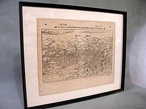 c. 1550 Map of Florence, Italy ~: Sebastian Münster, et