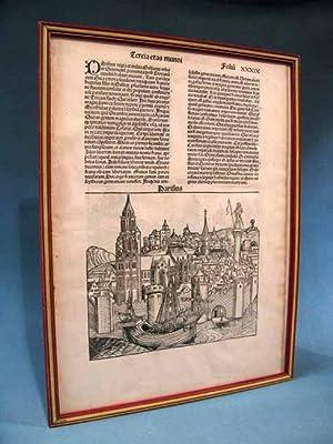 LIBER CHRONICARUM [Nuremberg Chronicle] ~ Single folio: Hartmann Schedel
