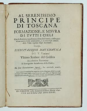 Al serenissimo Principe di Toscana, Formazione, e: VIVIANI, Vincenzo