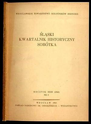 Slaski Kwartalnik Historyczny. Sobotka. R.23 (1968). Nr