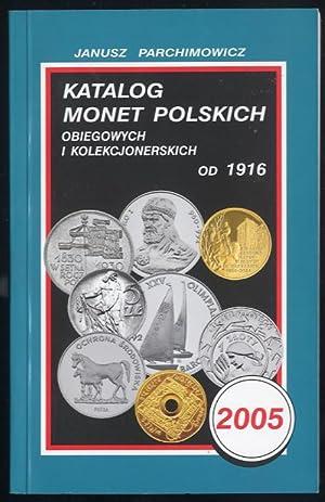 Katalog monet polskich obiegowych i kolekcjonerskich od: Parchimowicz Janusz