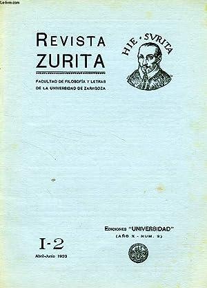 REVISTA ZURITA, I-2, ABRIL-JUNIO 1933: COLLECTIF