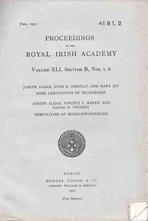 PROCEEDINGS OF THE ROYAL IRISH ACADEMY. Some: Algar, Joseph; O'Reilly,