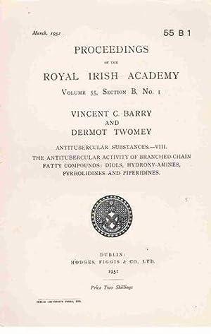 Antitubercular Substances - VIII. The Antitubercular Activity: Vincent C. Barry