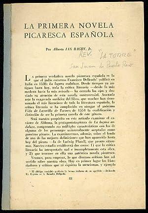 La primera novela picaresca española: BAGBY, Alberto Ian, Jr.