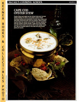 McCall's Cooking School Recipe Card: Soups 15 - Oyster Stew (Replacement McCall's Recipage or Rec...