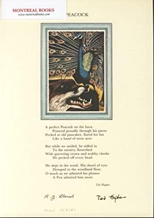 Peacock (Broadside Print) -- from The Cat and the Cuckoo