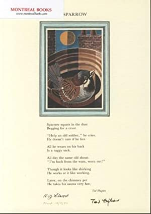 Sparrow (Broadside Print) -- from The Cat and the Cuckoo