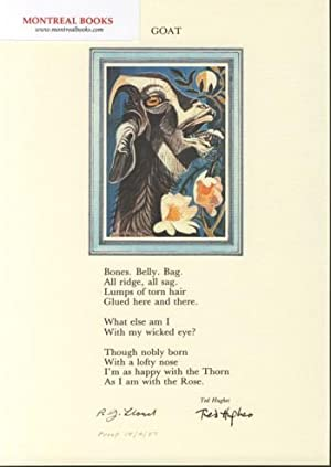 Goat (Broadside Print) -- from The Cat and the Cuckoo