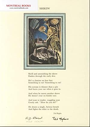 Shrew (Broadside Print) -- from The Cat and the Cuckoo
