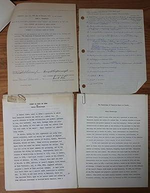 "Henry Roxborough ""The Beginning of Organized Sport in Canada"" original documents: ..."